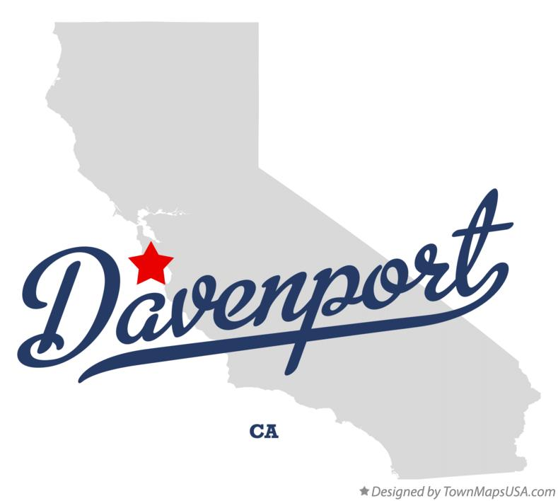 Map of Davenport California CA