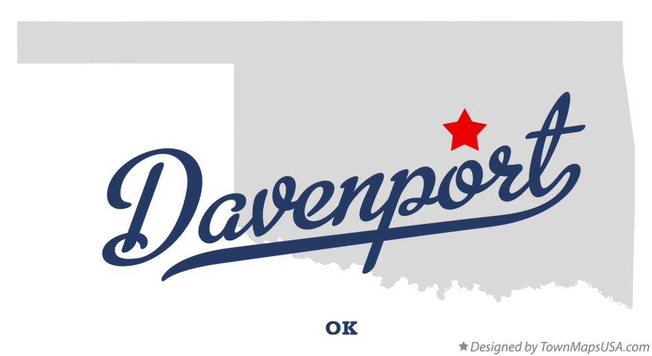 Map of Davenport Oklahoma OK