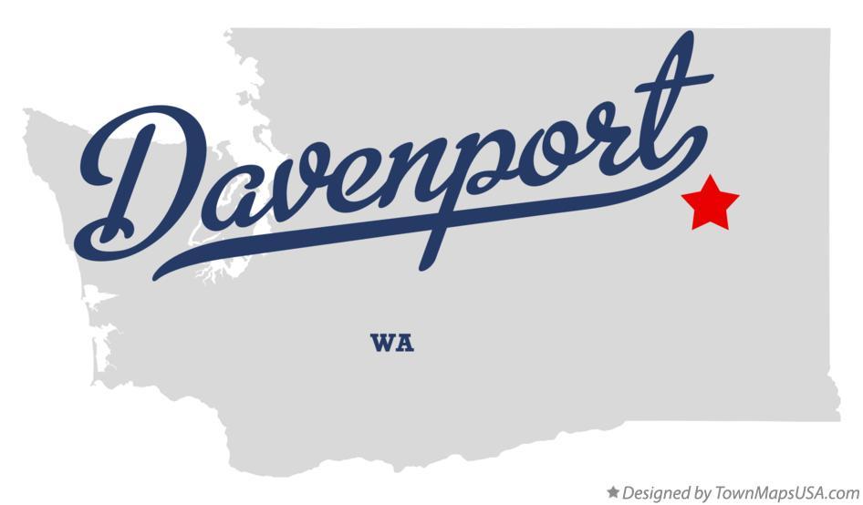 Davenport Washington Map.Map Of Davenport Wa Washington