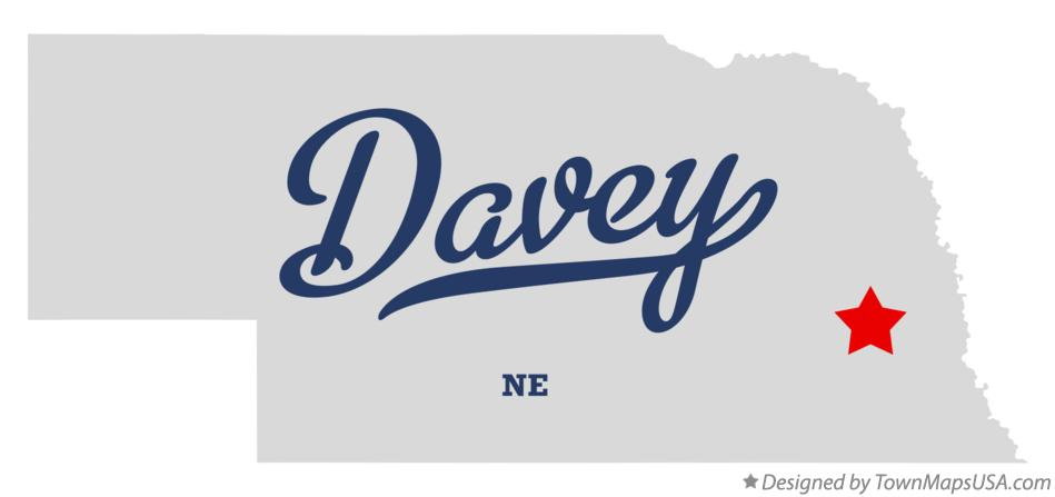 Map of Davey Nebraska NE