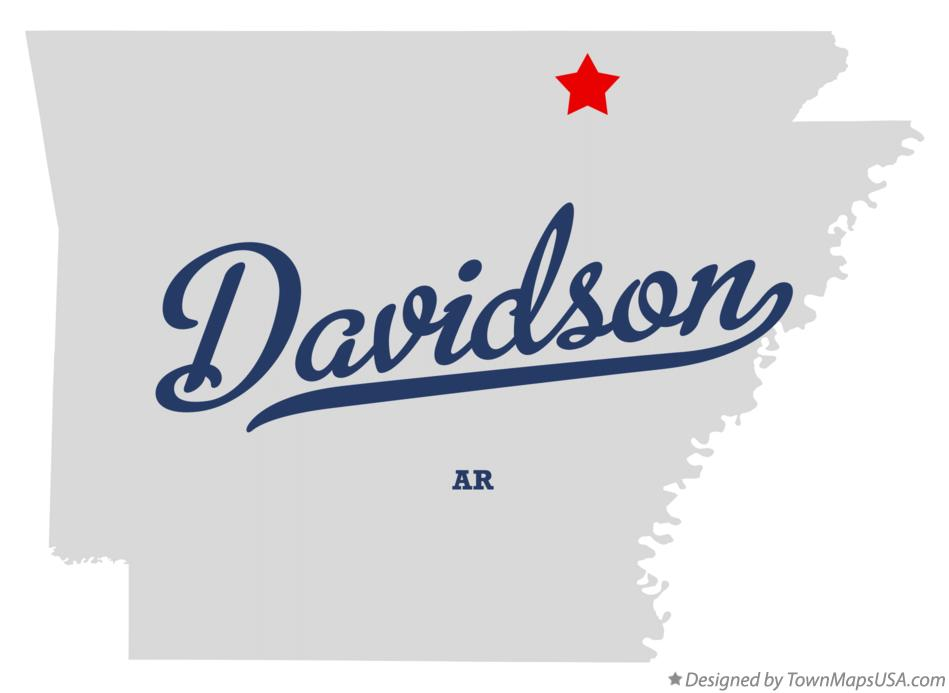 Map of Davidson Arkansas AR