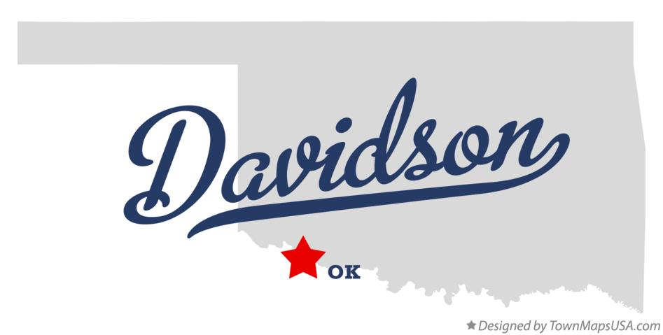Map of Davidson Oklahoma OK