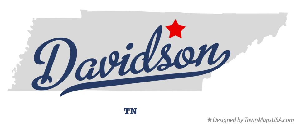 Map of Davidson Tennessee TN