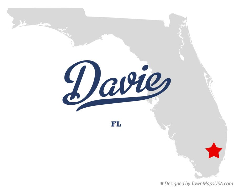 Map of Davie Florida FL