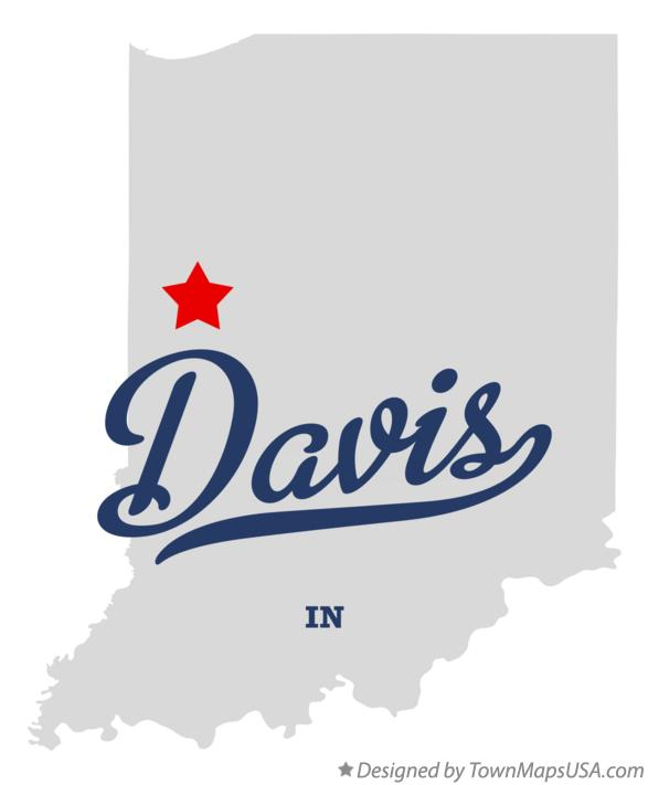 Map of Davis Indiana IN
