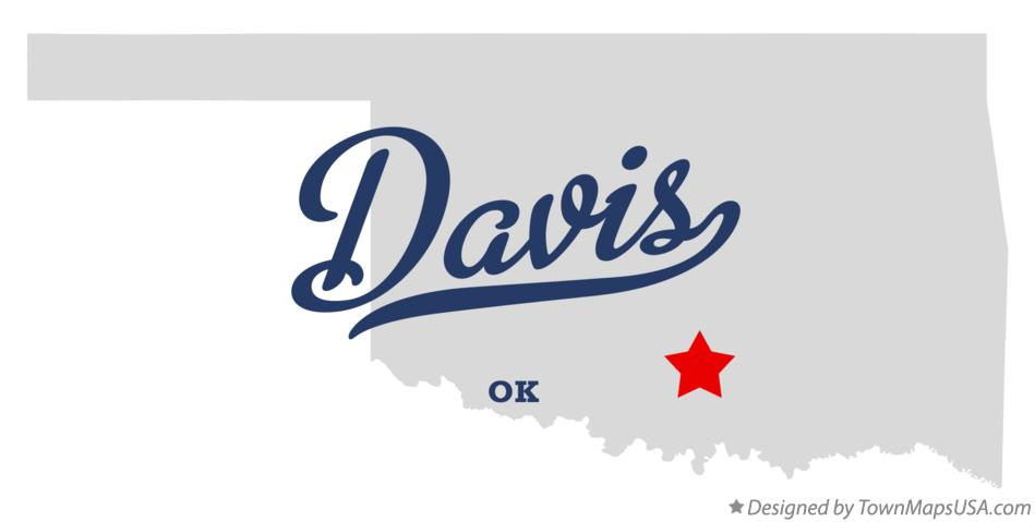 Map of Davis Oklahoma OK