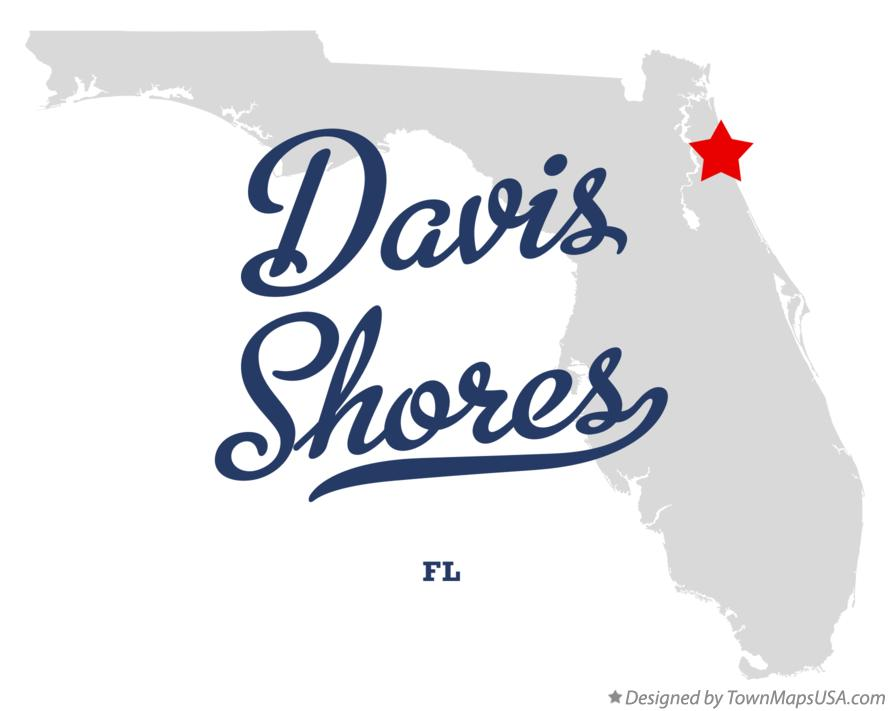 Map of Davis Shores Florida FL