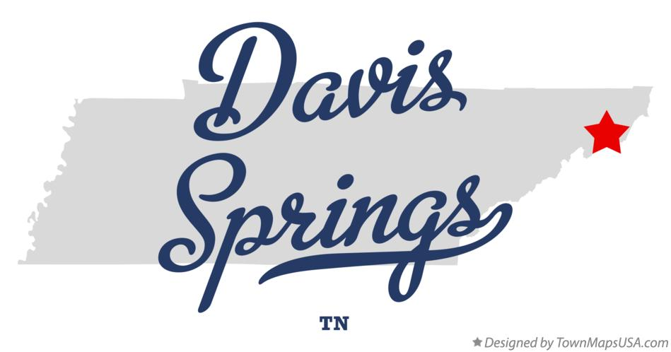 Map of Davis Springs Tennessee TN