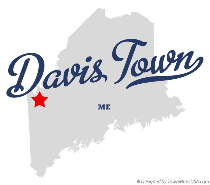 Map of Davis Town Maine ME