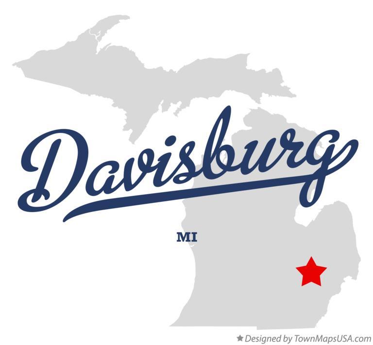Map of Davisburg, MI, Michigan