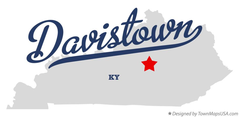 Map of Davistown Kentucky KY