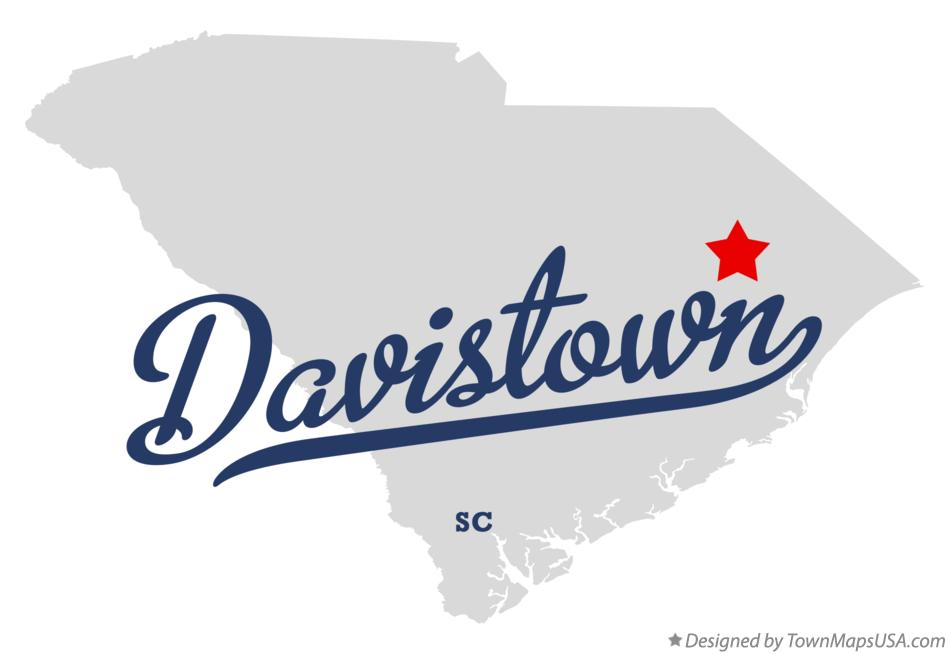 Map of Davistown South Carolina SC