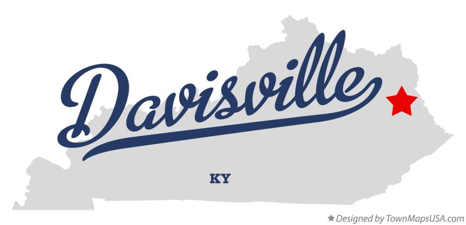 Map of Davisville Kentucky KY