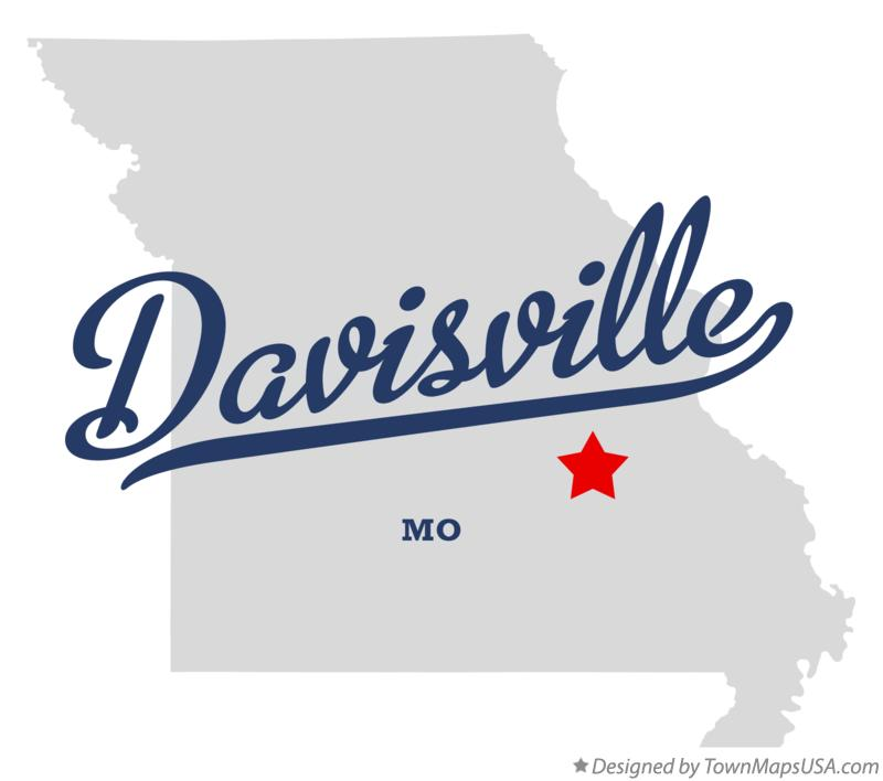 Map of Davisville Missouri MO