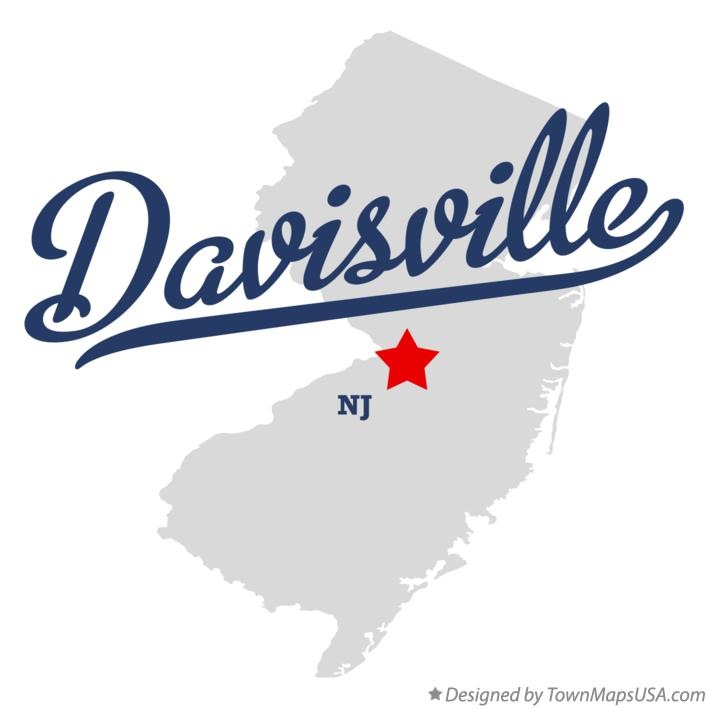 Map of Davisville New Jersey NJ