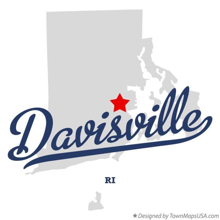 Map of Davisville Rhode Island RI