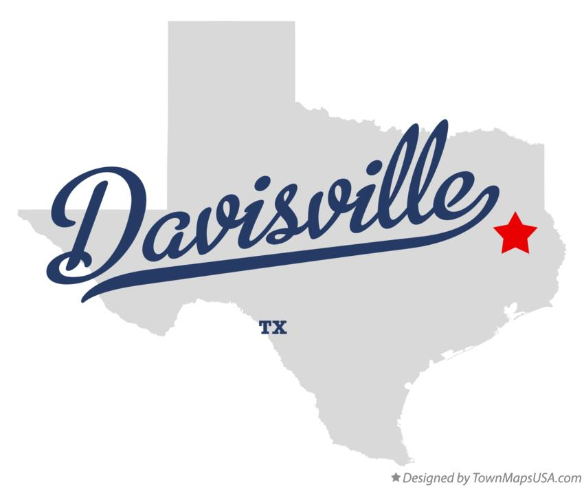 Map of Davisville Texas TX