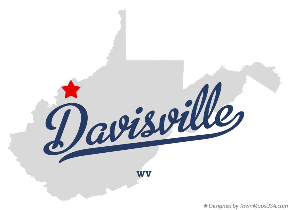 Map of Davisville West Virginia WV