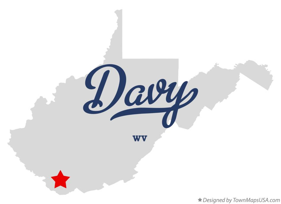 Map of Davy West Virginia WV