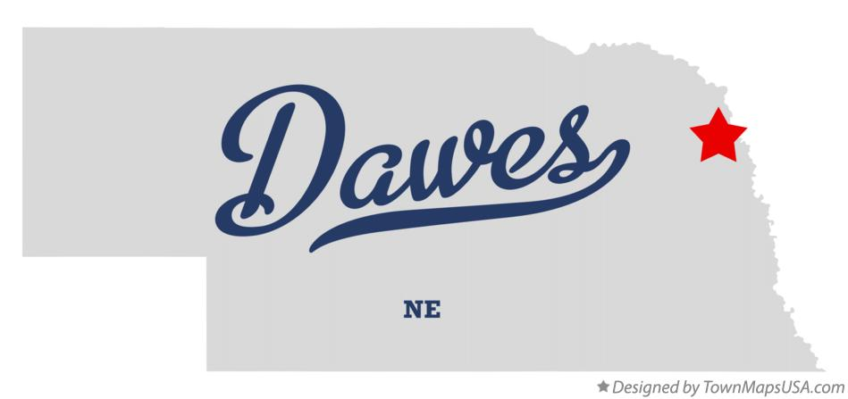 Map of Dawes Nebraska NE