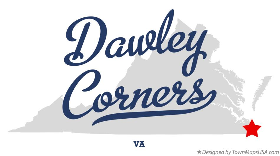 Map of Dawley Corners Virginia VA