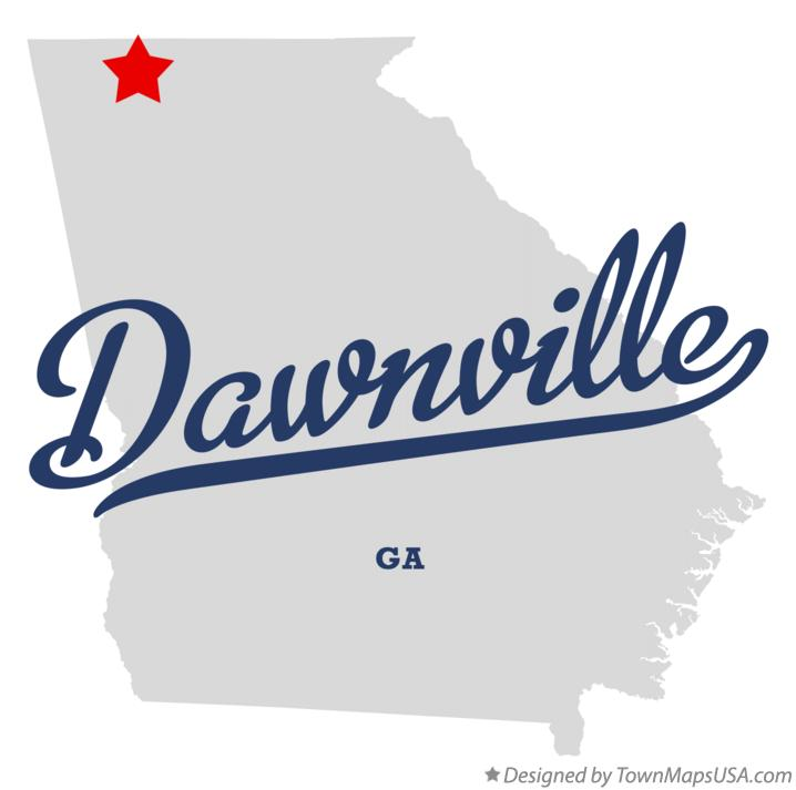 Map of Dawnville Georgia GA