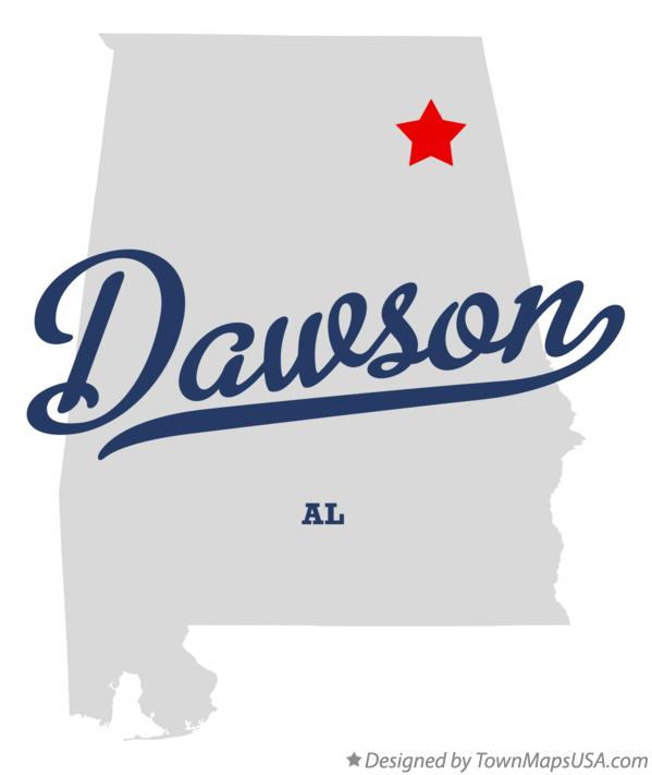 Map of Dawson Alabama AL