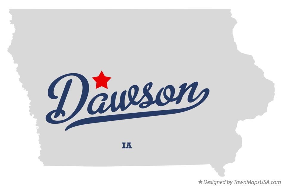 Map of Dawson Iowa IA