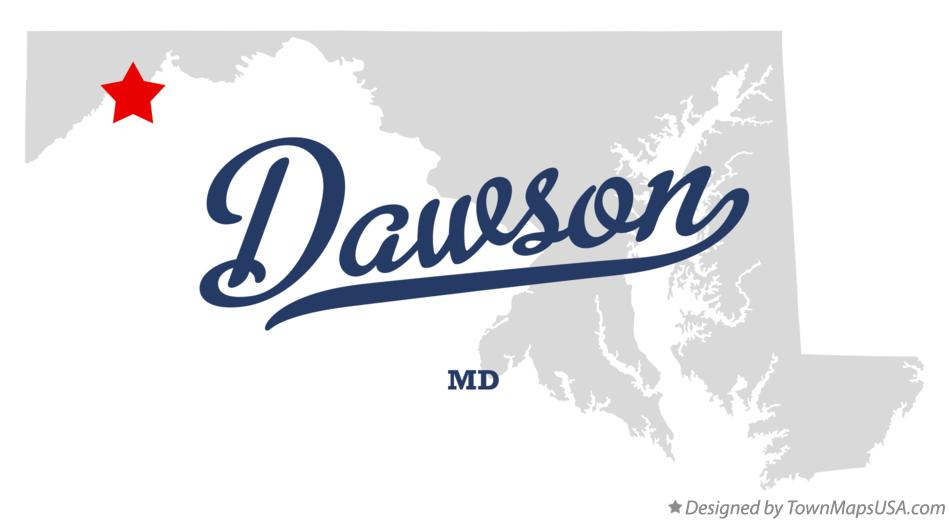 Map of Dawson Maryland MD
