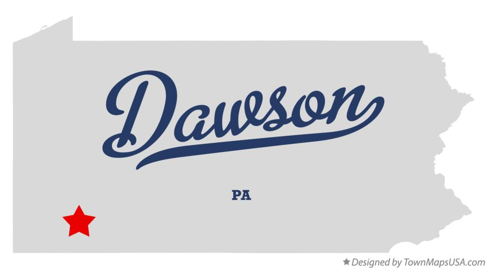 Map of Dawson Pennsylvania PA