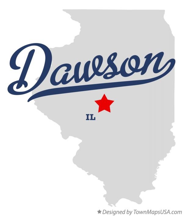 Map of Dawson Illinois IL
