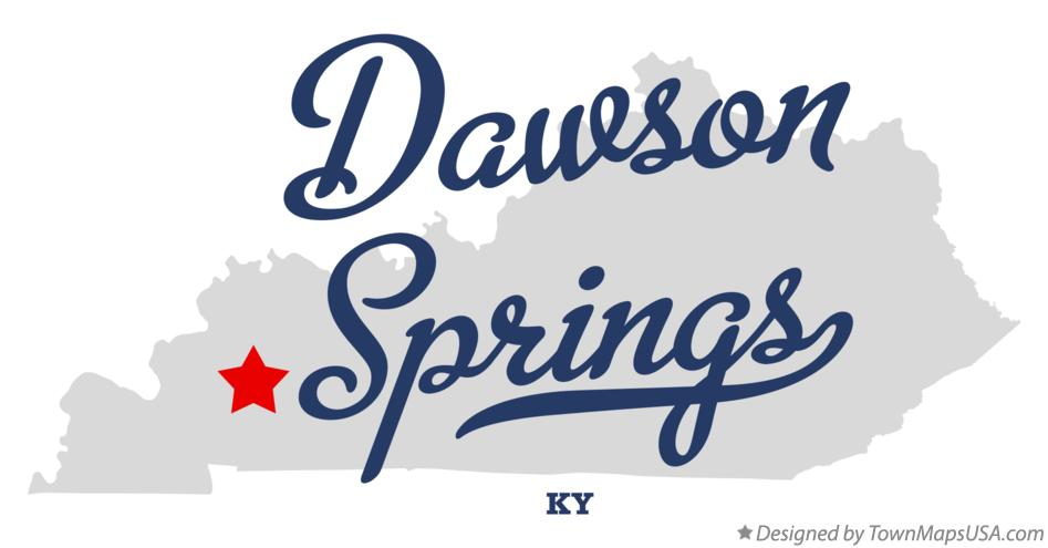 Map of Dawson Springs Kentucky KY