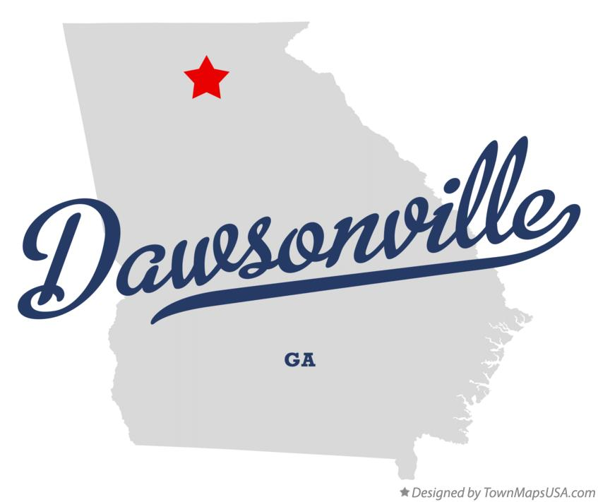 Map of Dawsonville Georgia GA