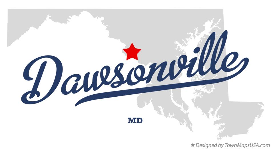 Map of Dawsonville Maryland MD