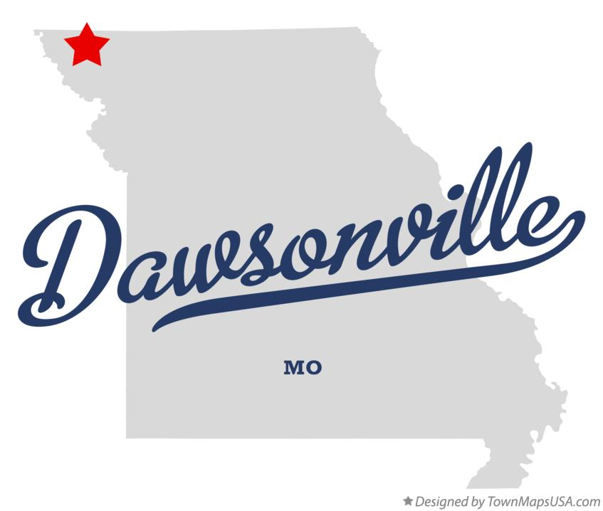 Map of Dawsonville Missouri MO