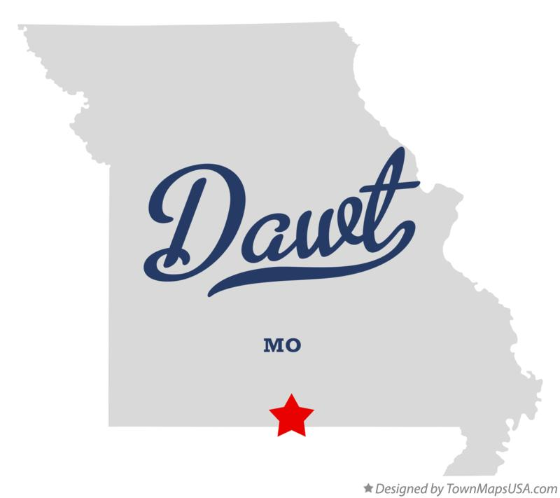 Map of Dawt Missouri MO