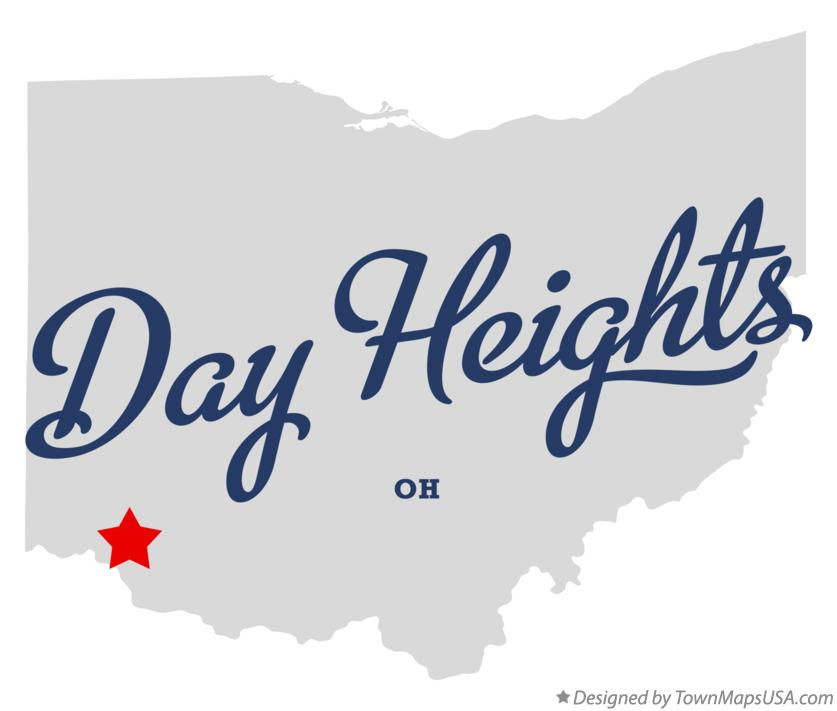 Map of Day Heights Ohio OH