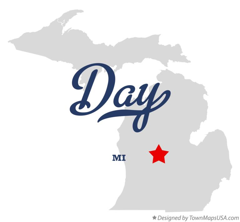 Map of Day Michigan MI