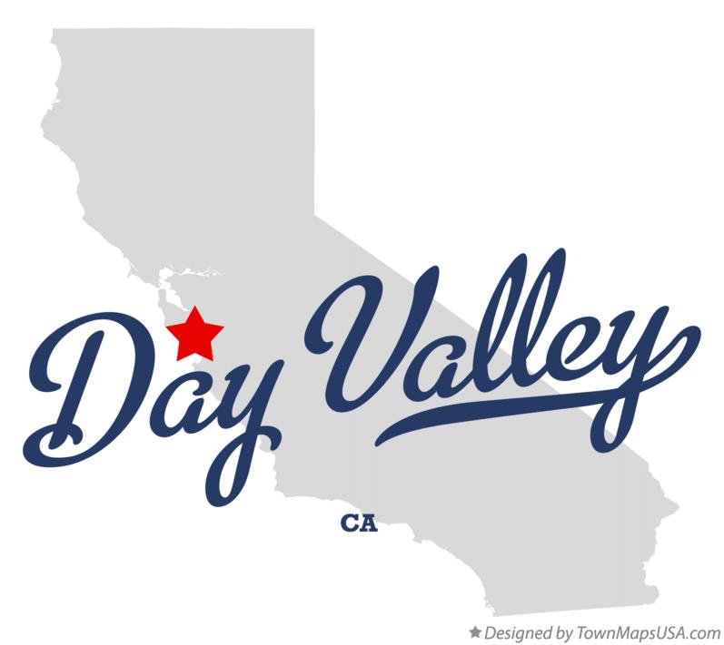 Map of Day Valley California CA