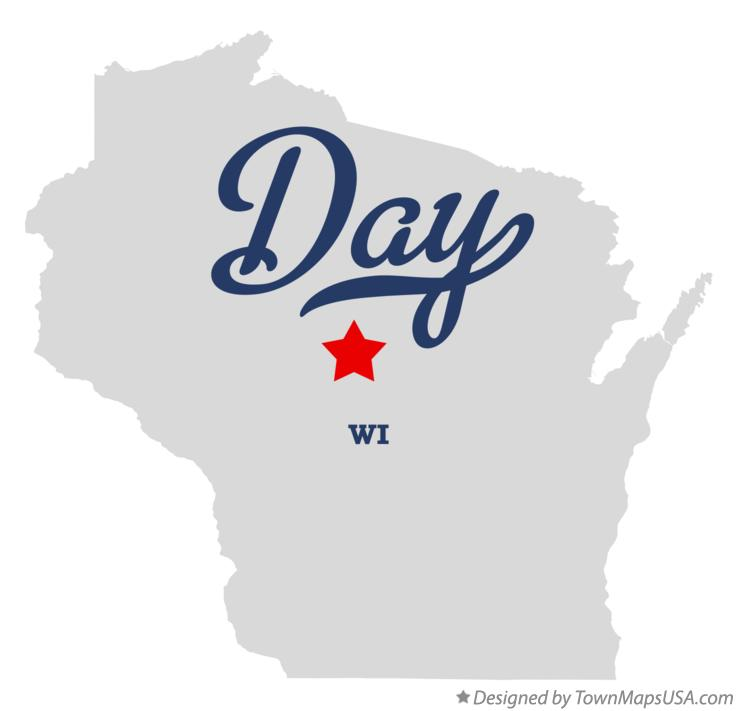 Map of Day Wisconsin WI