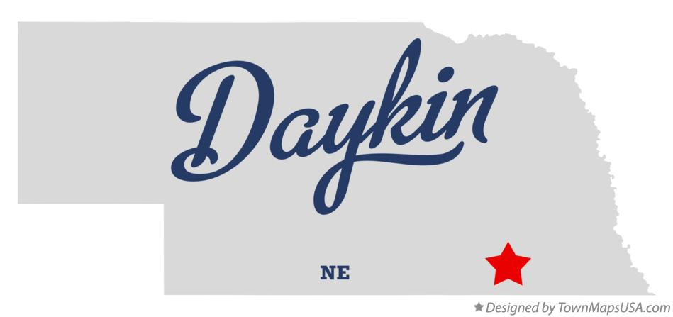 Map of Daykin Nebraska NE