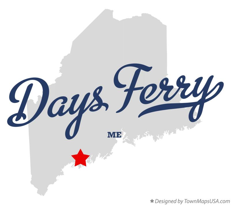 Map of Days Ferry Maine ME