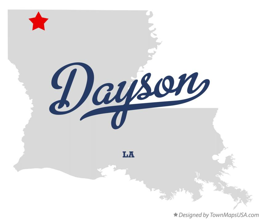 Map of Dayson Louisiana LA