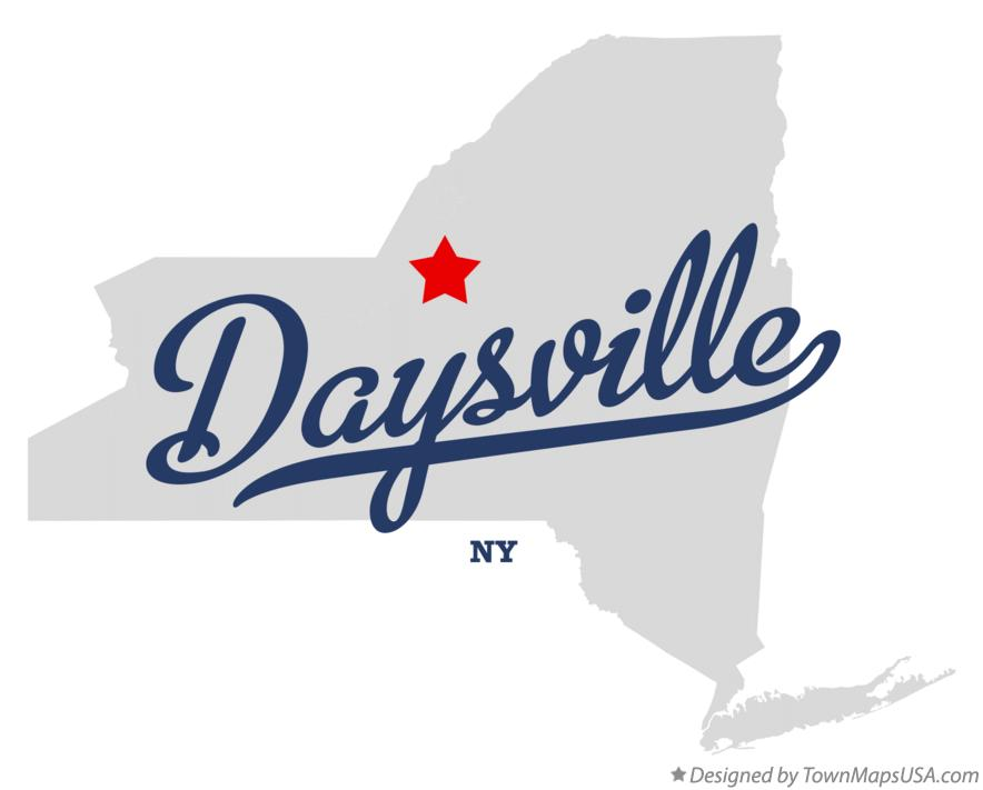 Map of Daysville New York NY