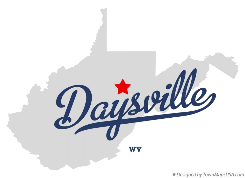Map of Daysville West Virginia WV