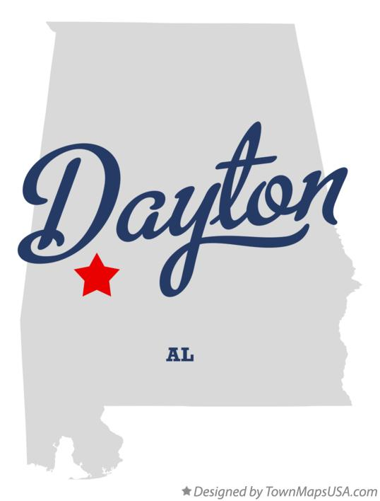Map of Dayton Alabama AL
