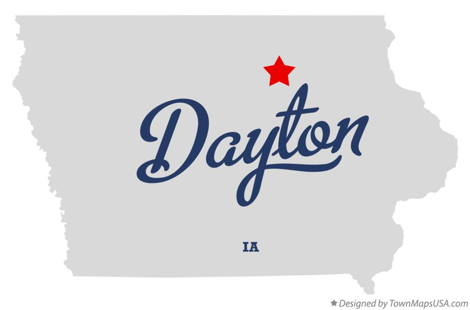 Map of Dayton Iowa IA