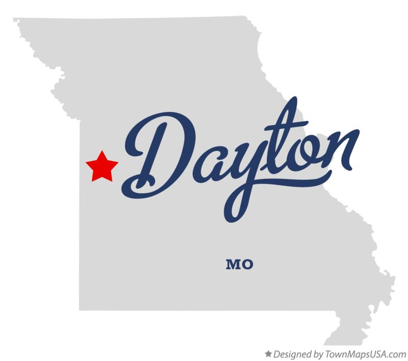 Map of Dayton Missouri MO