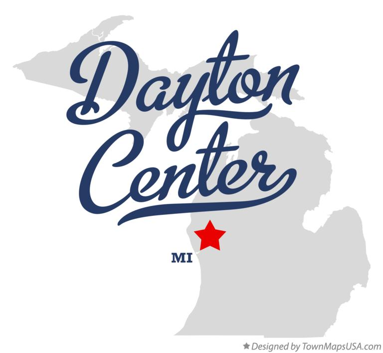 Map of Dayton Center Michigan MI