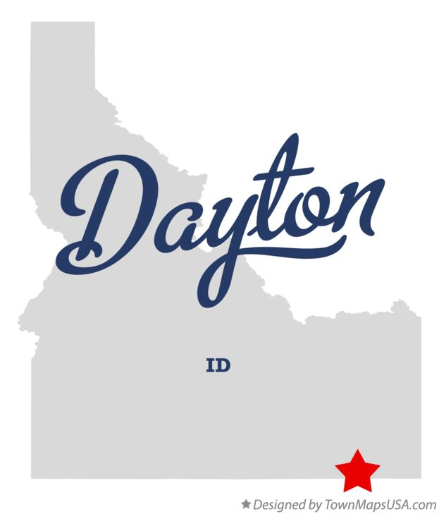 Map of Dayton Idaho ID